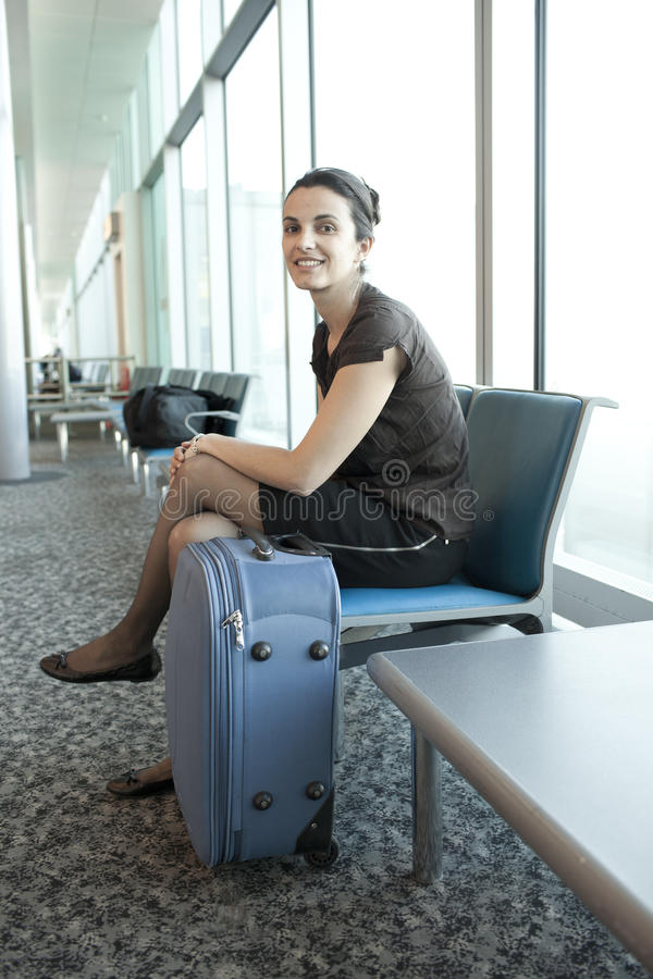 Young woman traveling stock images
