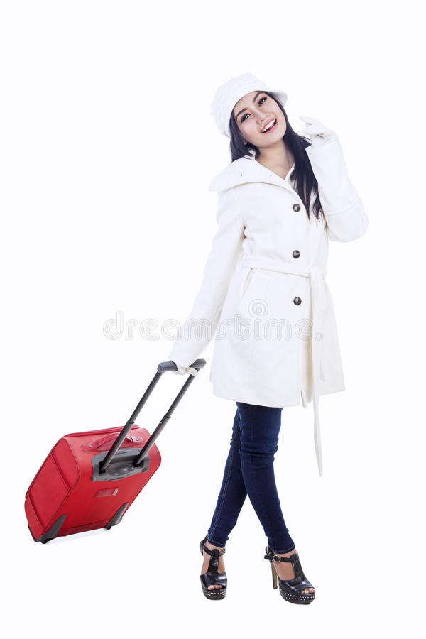 Young woman traveller 1 stock photography