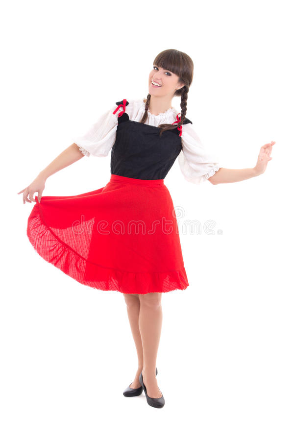 Young woman in typical bavarian dress dirndl stock image