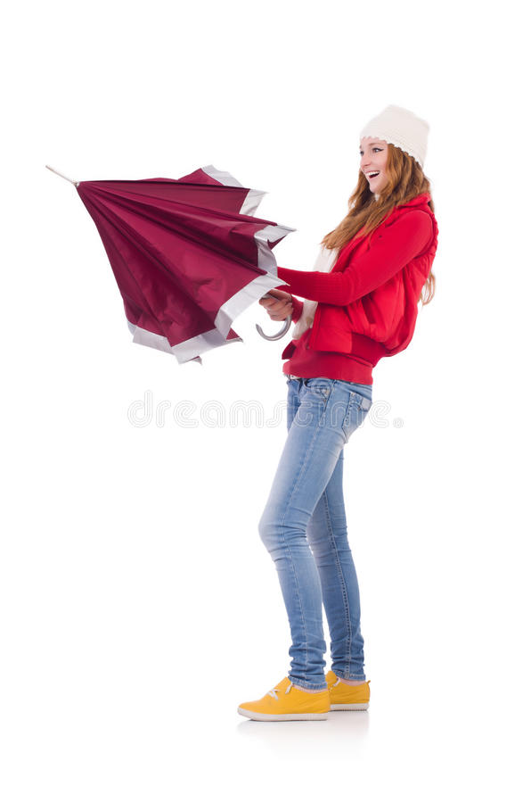 Download Young woman with umbrella stock image. Image of clothing - 36977029