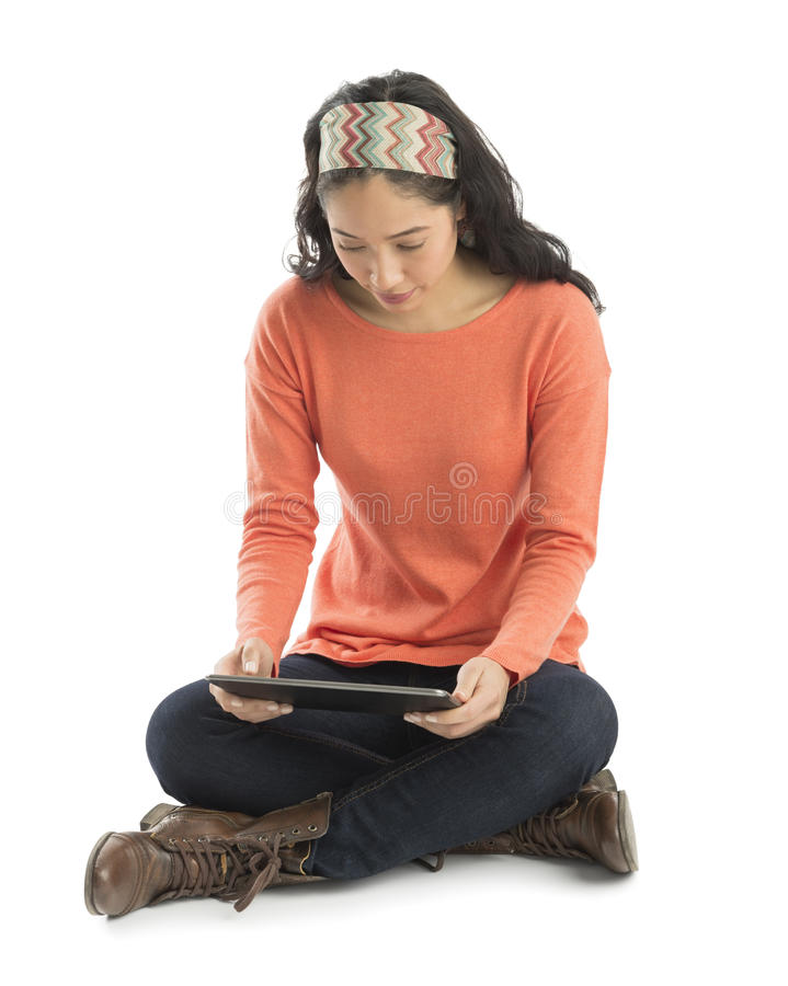 Download Young Woman Using Digital Tablet Stock Image - Image: 32482125