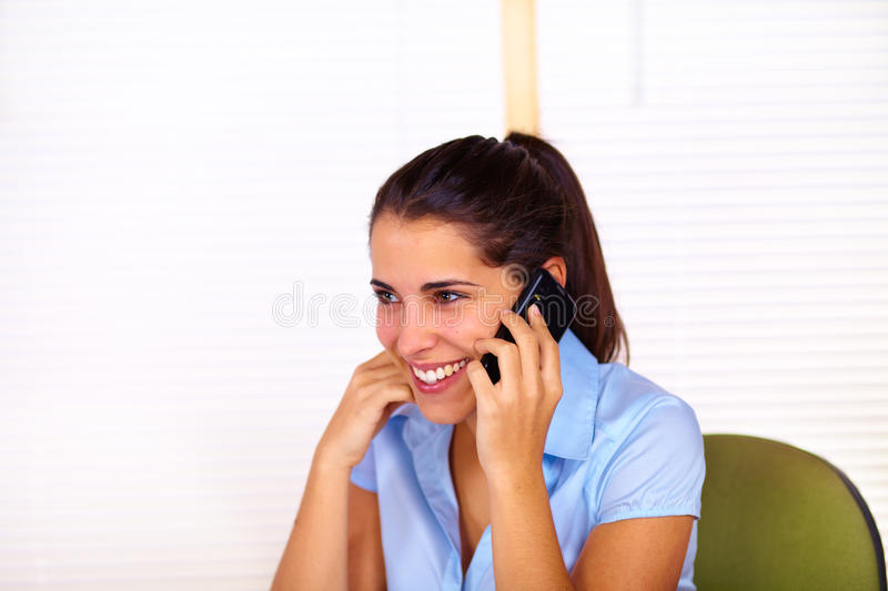 Young Woman Using A Mobile Stock Images