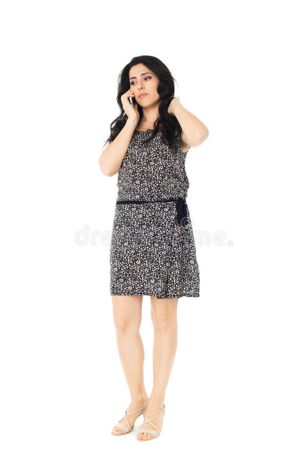Young woman using phone royalty free stock photo
