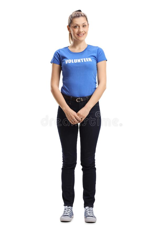 Young woman volunteer posing stock images