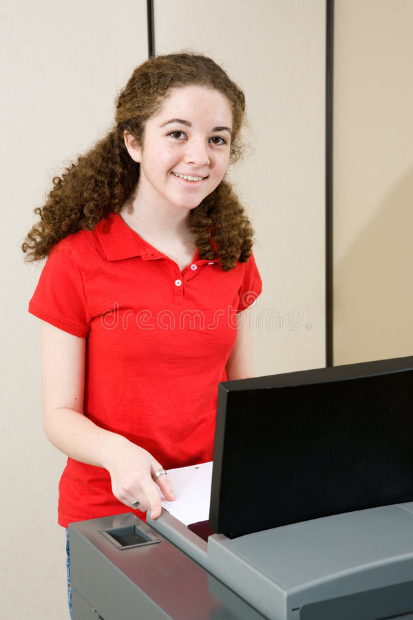 Young Woman Votes royalty free stock image