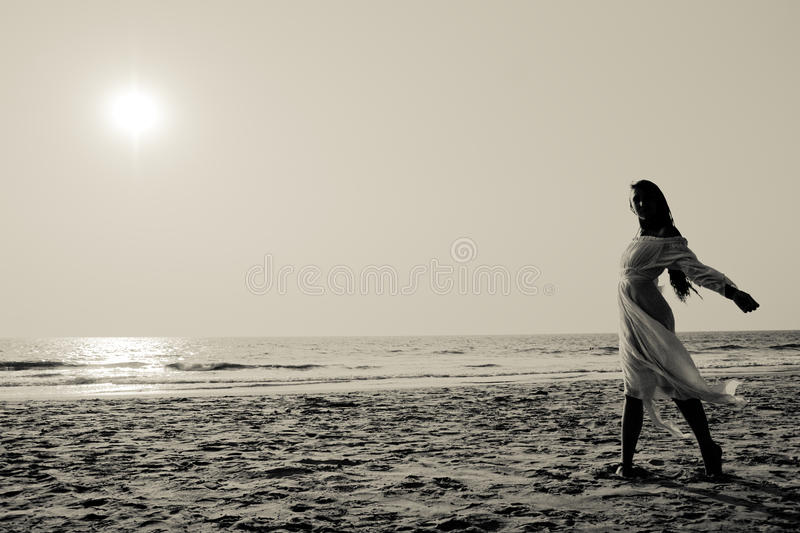 Download Young Woman Walking On A Beach Stock Image - Image: 11680257