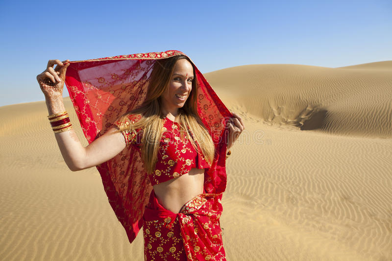 Download Young Woman Wearing A Sari Royalty Free Stock Photos - Image: 26454988