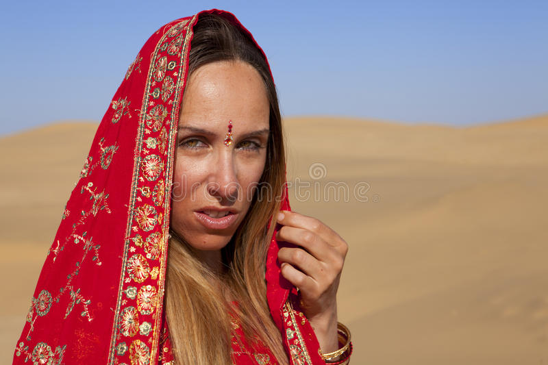 Download Young woman wearing a sari stock photo. Image of female - 26455076
