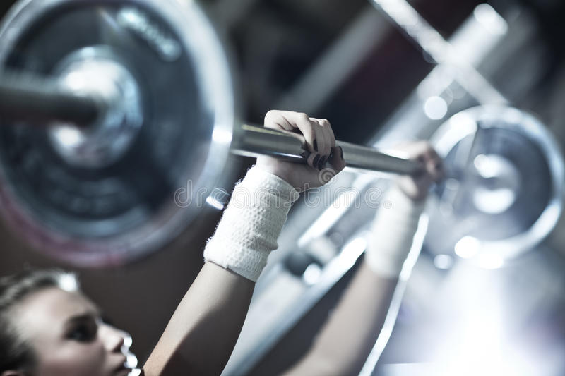 Download Young Woman Weight Training Stock Images - Image: 18240074