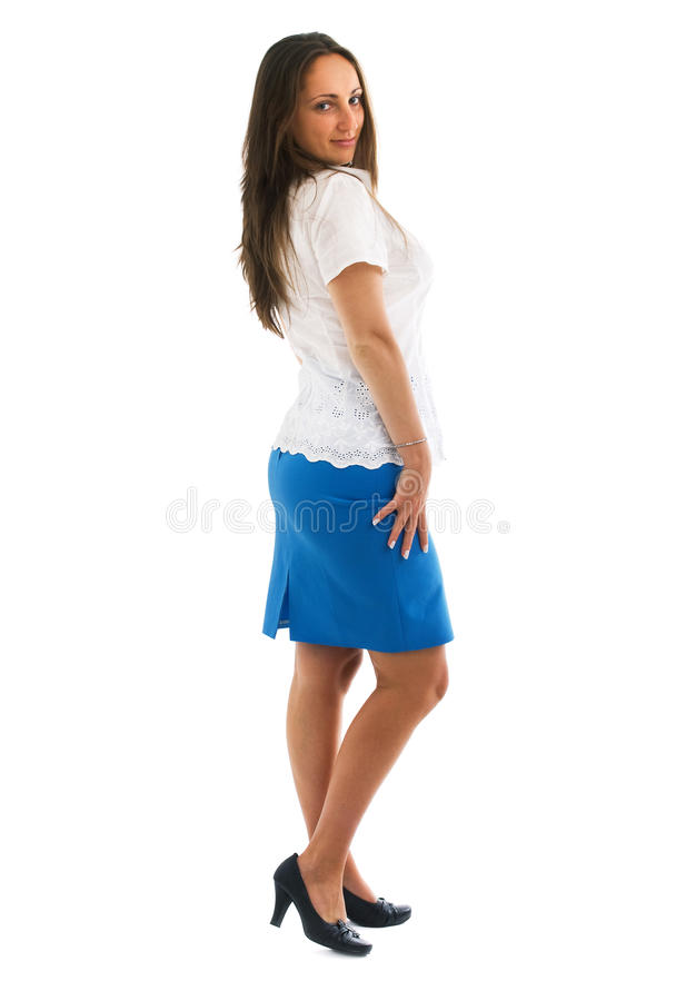 Young woman well-dressed royalty free stock photos