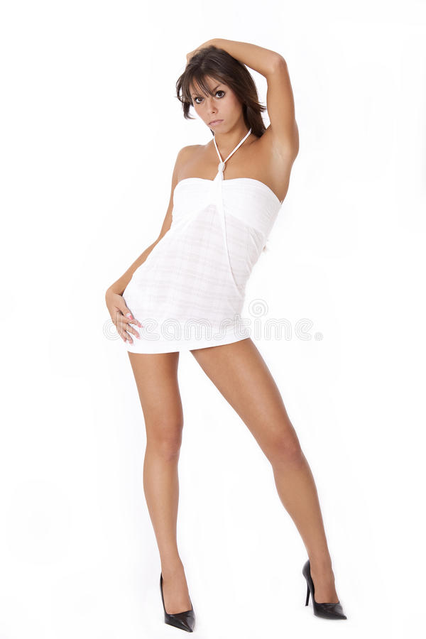 Download Young woman in white dress stock image. Image of genial - 11310519
