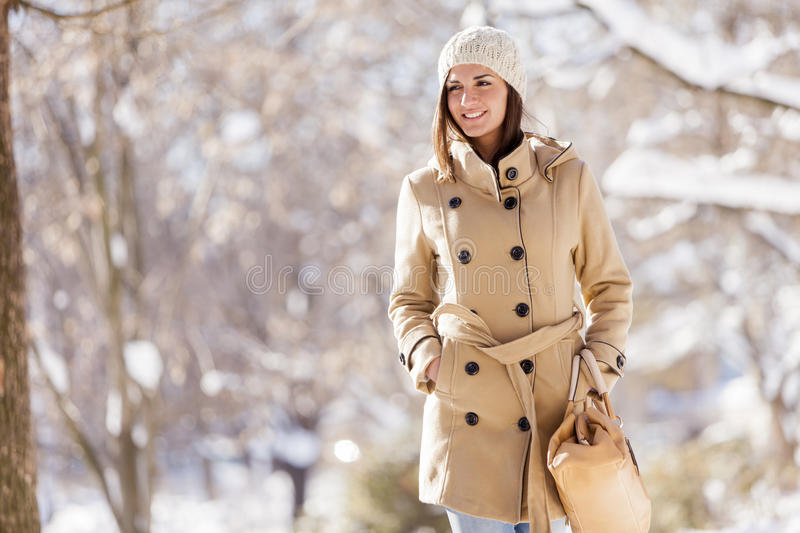Download Young woman at winter stock photo. Image of smile, person - 28388104