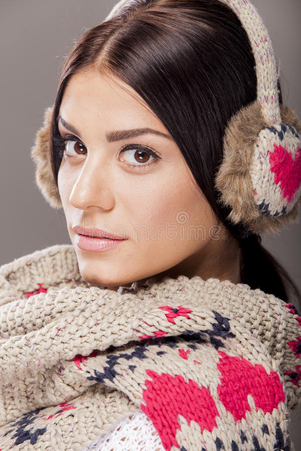 Download Young Woman With Winter Clothes Stock Image - Image: 27932317