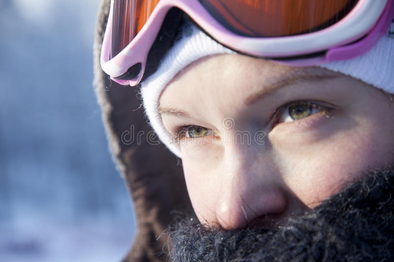 Download Young woman  winter day stock image. Image of caucasian - 18216051