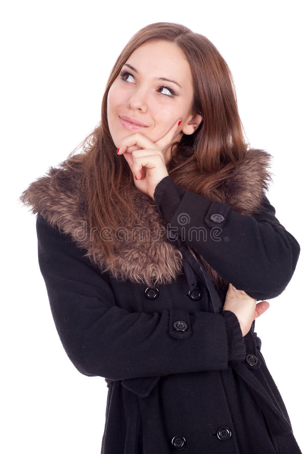 Download Young Woman In Winter Jacket Stock Image - Image of feminine, brown: 18986333