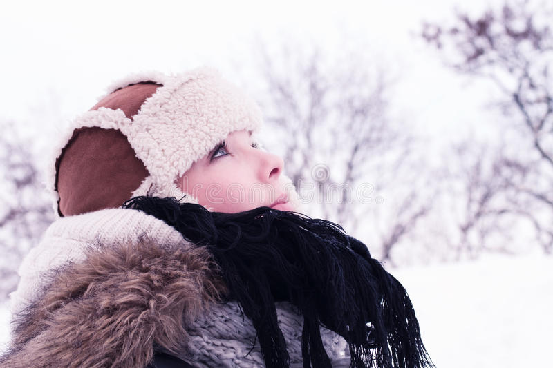Download Young Woman Winter Portrait Stock Image - Image: 23218573
