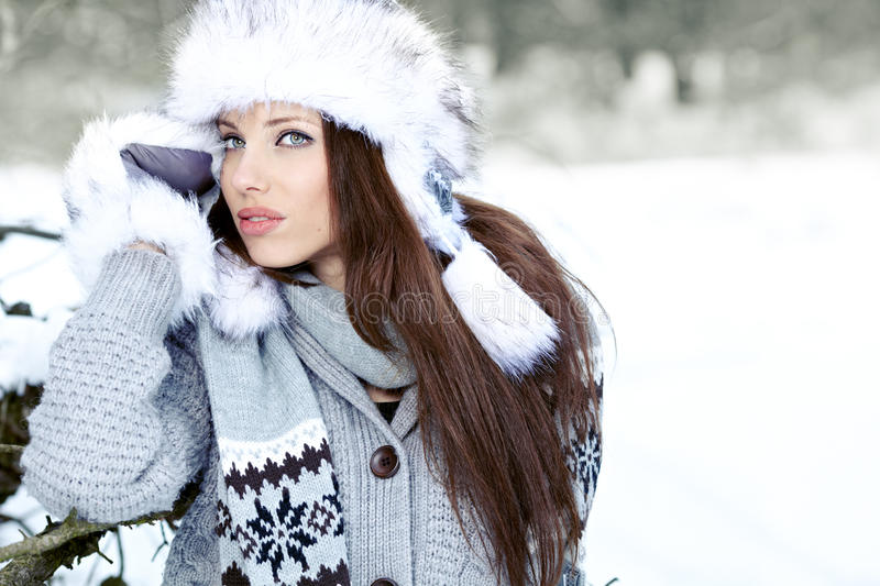 Download Young Woman Winter Portrait. Stock Photo - Image: 28305460