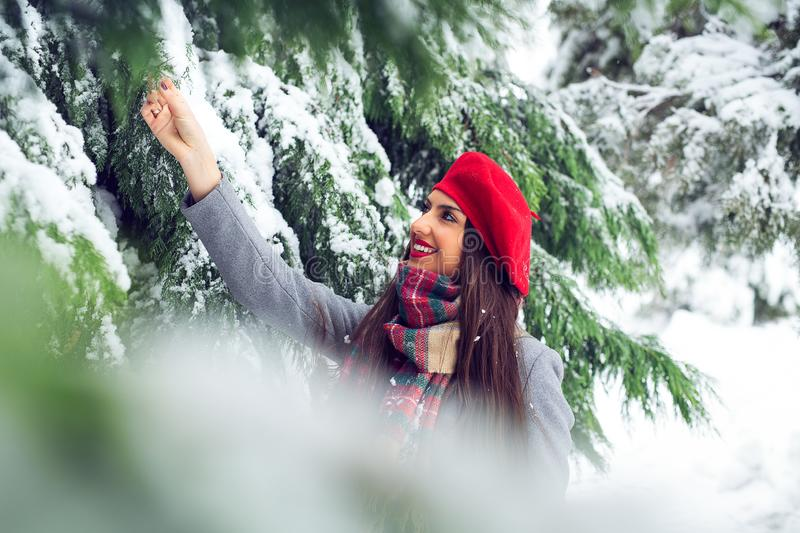 Young woman winter portrait - Image stock photo