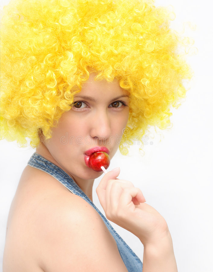 Free Young Woman With Lollipop Stock Photography - 5669552