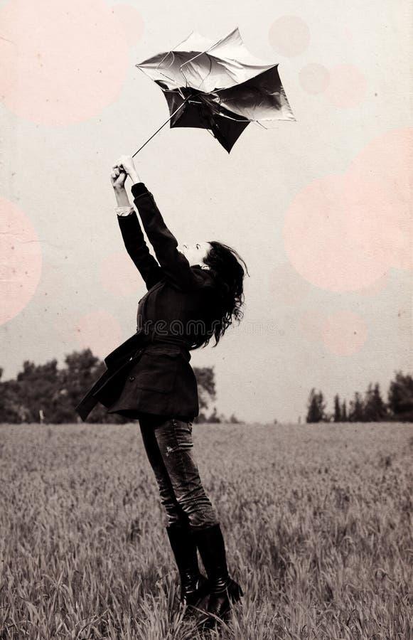 Free Young Woman With Umbrella Stock Photos - 25919093