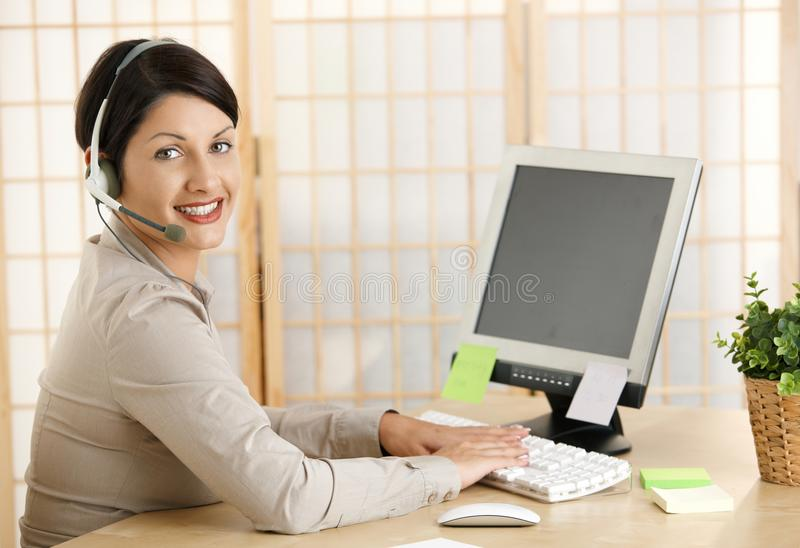 Download Young Woman Working At Home Stock Image - Image: 24588111