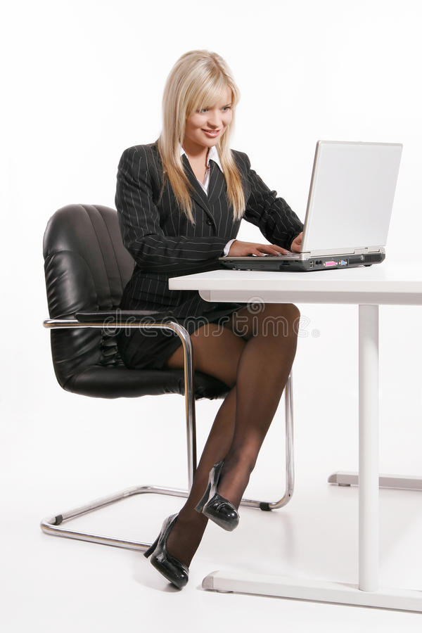 Download Young Woman Working With Laptop Stock Photo - Image: 31634932