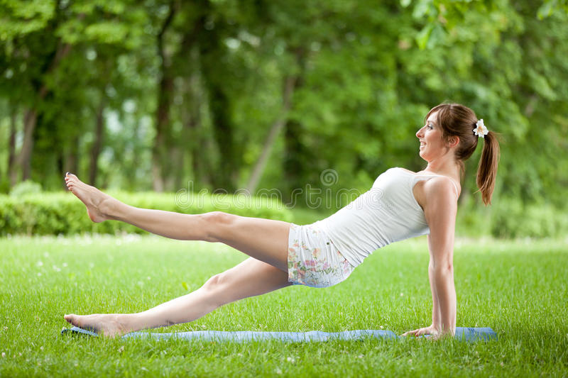 Download Young Woman Working Out In Nature Stock Images - Image: 30994034