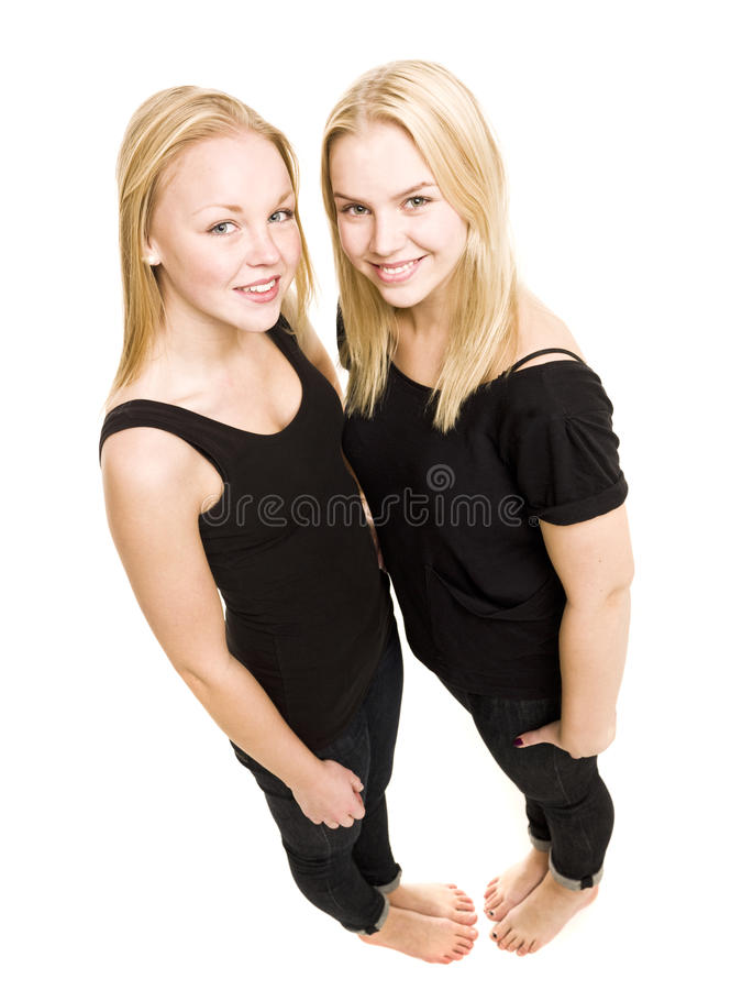 Young Women from above stock images