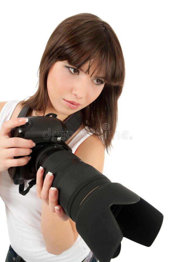 Download Young Women With Camera Stock Photography - Image: 12925812