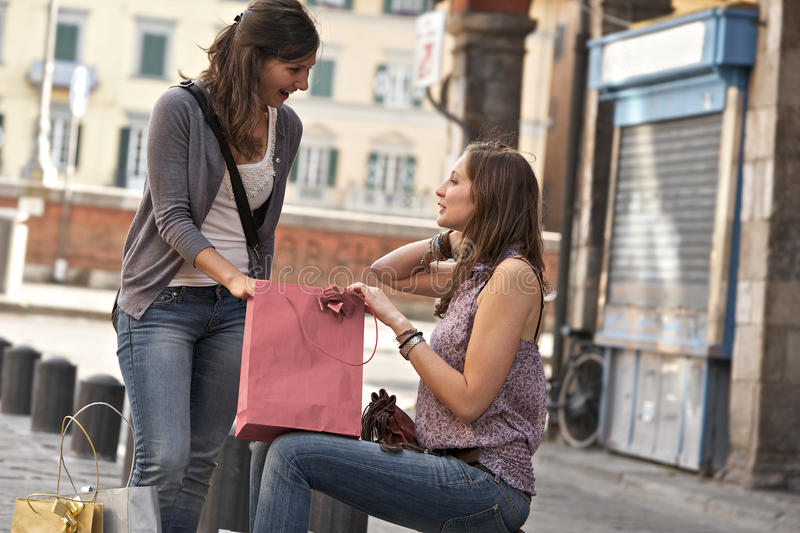 Download Young Women In The City After Shopping Royalty Free Stock Photo - Image: 25149075