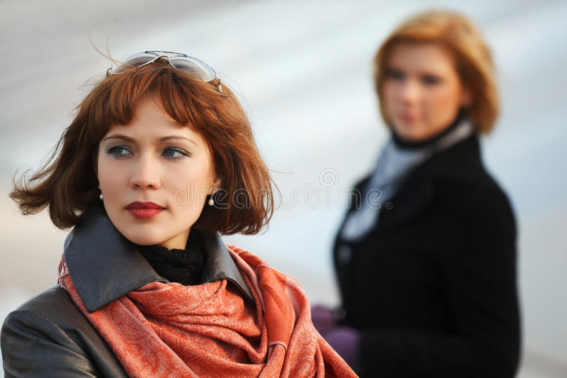Download Young Fashion Women In Conflict Stock Image - Image: 25245863