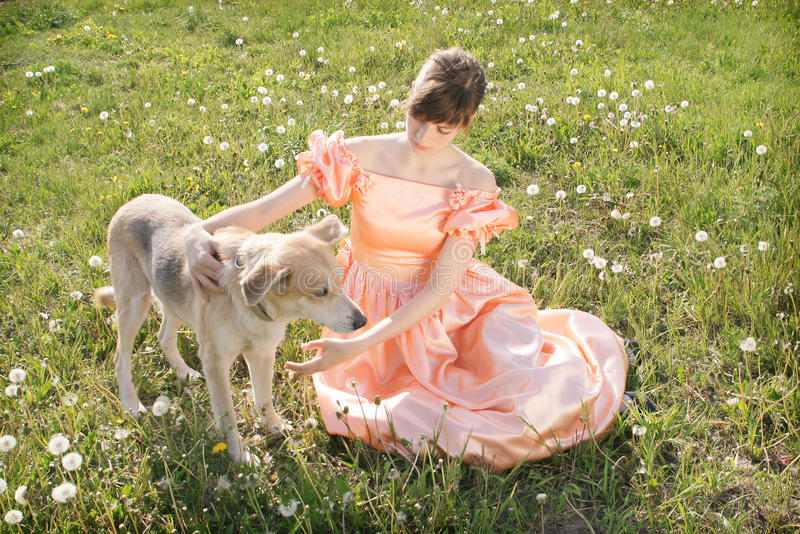 Download Young Women with dog stock image. Image of love, mistress - 10751593