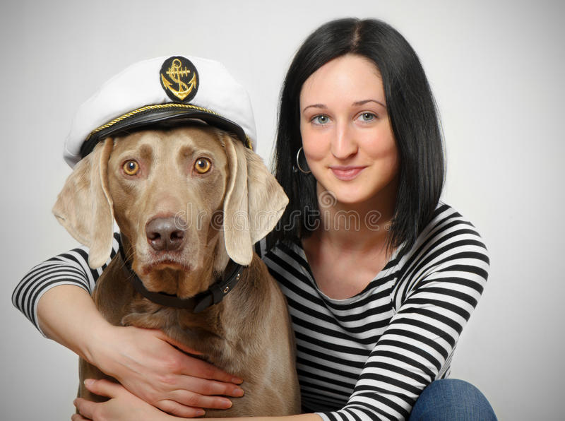 Download Young women and dog stock image. Image of brunette, girl - 24293821