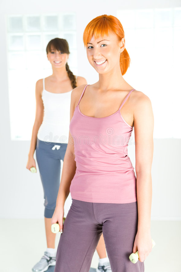 Download Young Women Doing Fitness Exercise Stock Image - Image: 6916139