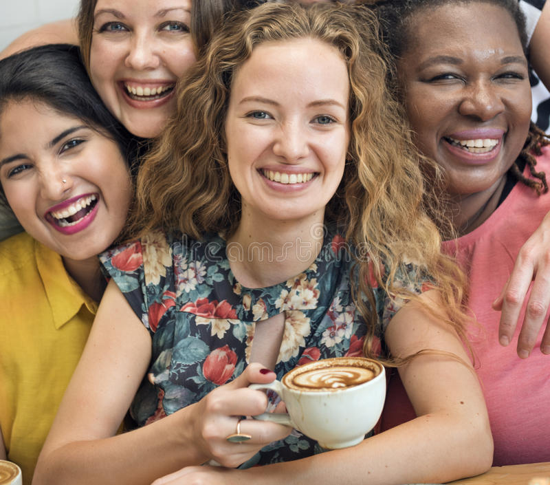 Young Women Drinking Coffee Concept stock image