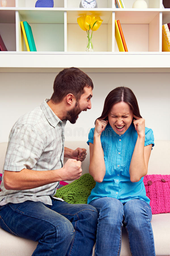 Download Woman Gets Earful From An Annoyed Man Stock Photo - Image: 29731138