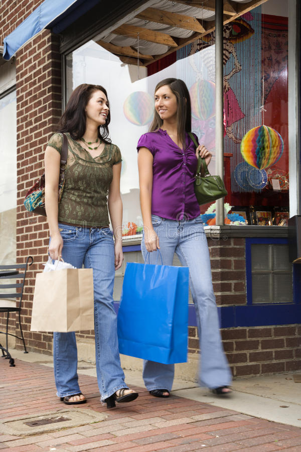 Free Young Women Shopping Royalty Free Stock Photo - 12983945