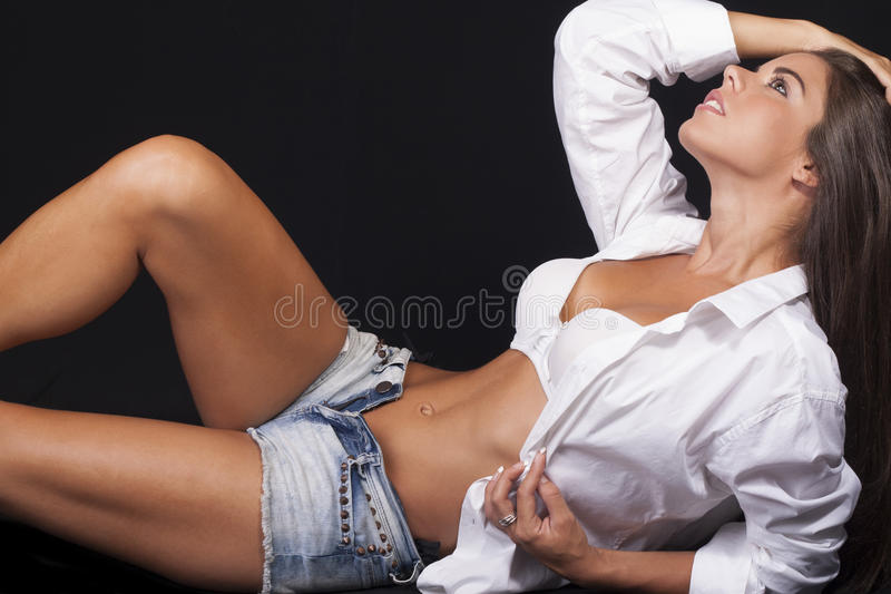 Download Young Women In Short Shorts Royalty Free Stock Photo - Image: 26400395