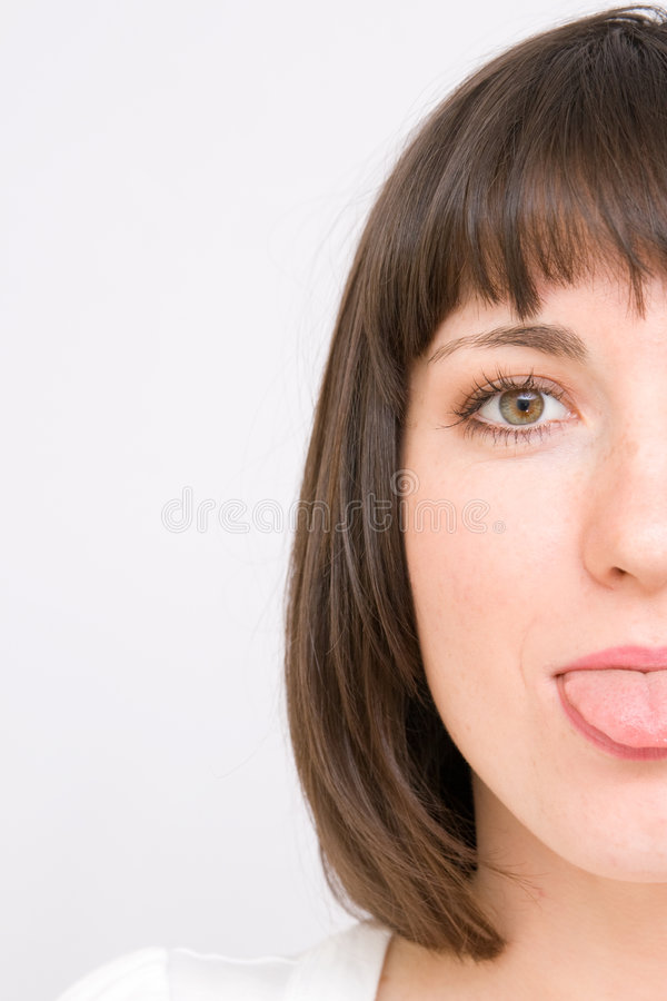 Download Young Women Showing Her Tongue Royalty Free Stock Photo - Image: 7294745