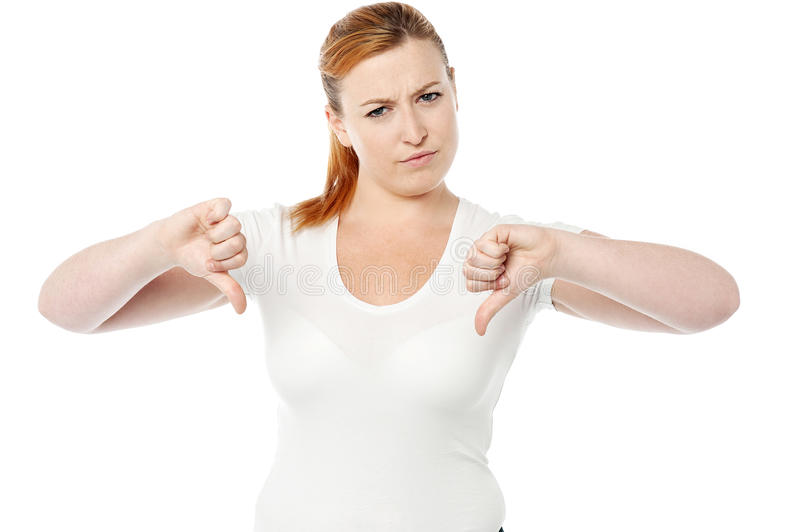 Download Young Women Showing Thumbs Down Stock Photo - Image: 34053494
