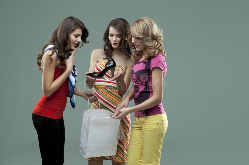 Young Women Smiling Friends Royalty Free Stock Images