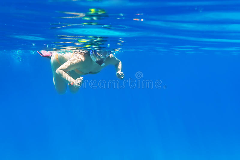 Download Young Women At Snorkeling In The Andaman Sea Stock Image - Image: 29698251