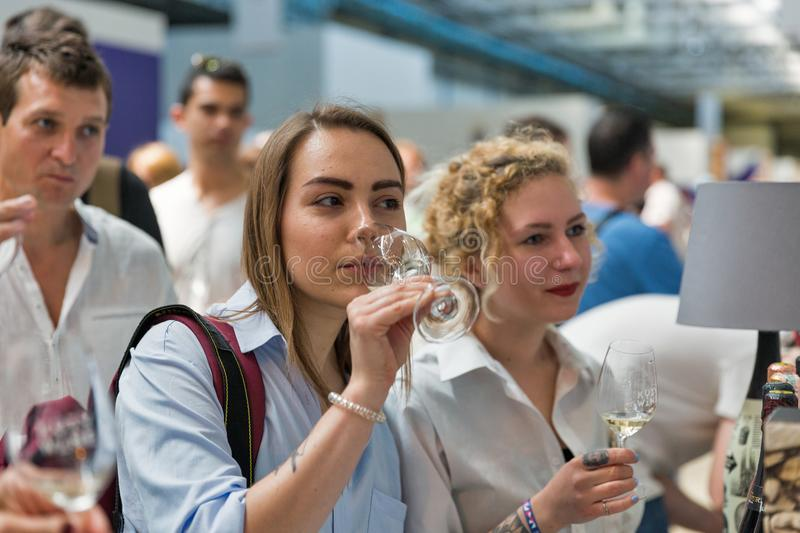 Kyiv Wine Festival by Good Wine in Ukraine. royalty free stock images