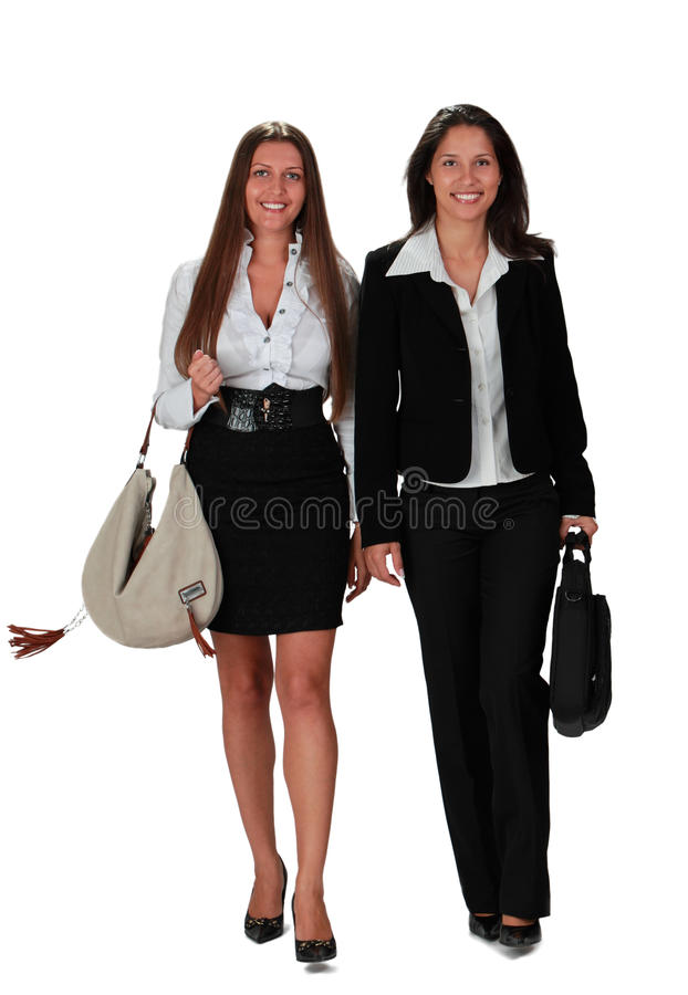 Download Young women walking stock photo. Image of people, purse - 18248964
