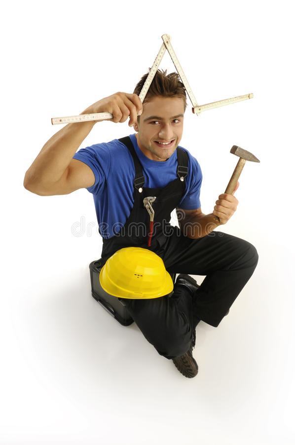 Young worker royalty free stock photography