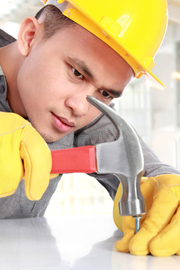 Download Young worker stock image. Image of labor, install, protective - 29062539