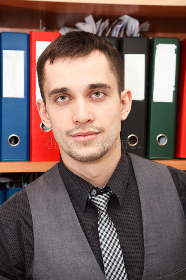 Download Young Worker Close Up Portrait Stock Images - Image: 24193214