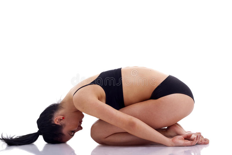 Young yoga female royalty free stock image
