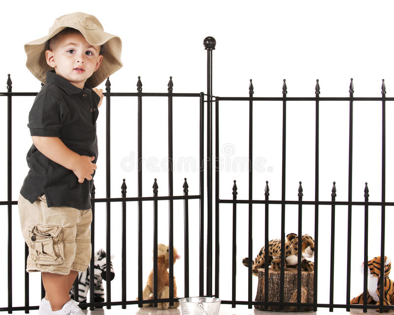 Young Zoo Keeper royalty free stock images
