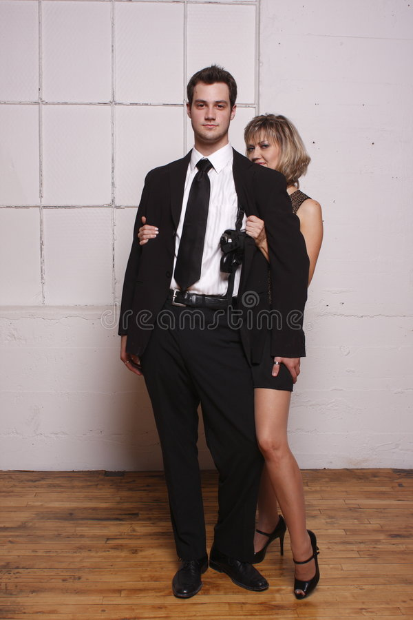 Younger man with mature woman stock images